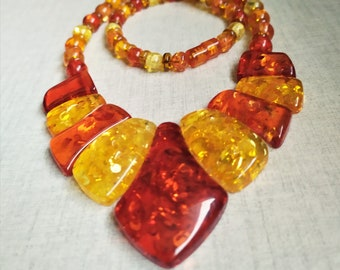 62 grms 5mm beads pendant is 60x25mm Beautiful agate necklace 4242 Beautiful