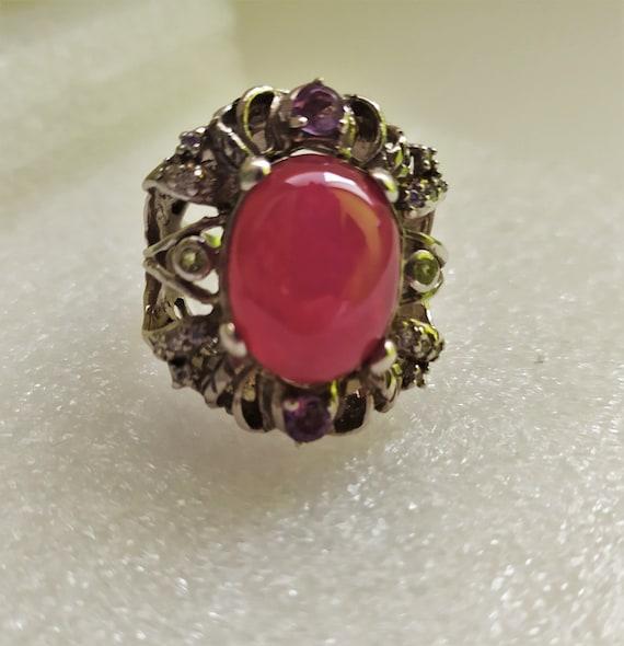 Large natural ruby ring Real ruby vintage ring Ru… - image 6