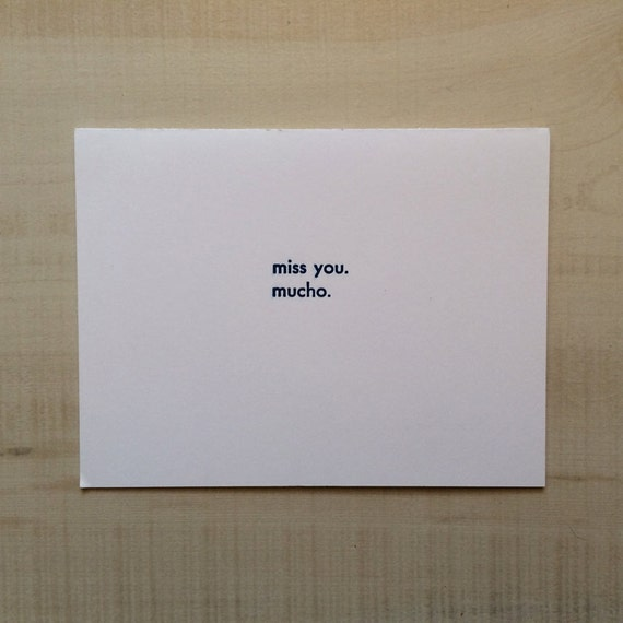 Letterpress Card Greeting Spanish Blank Note Language Funny Birthday Pun