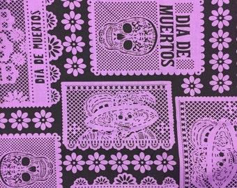 Day of the Dead Halloween Sugar Skulls Fabric