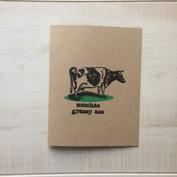 Moochas Grassy Ass Greeting Card Spanish Blank Note Language Funny Birthday Pun