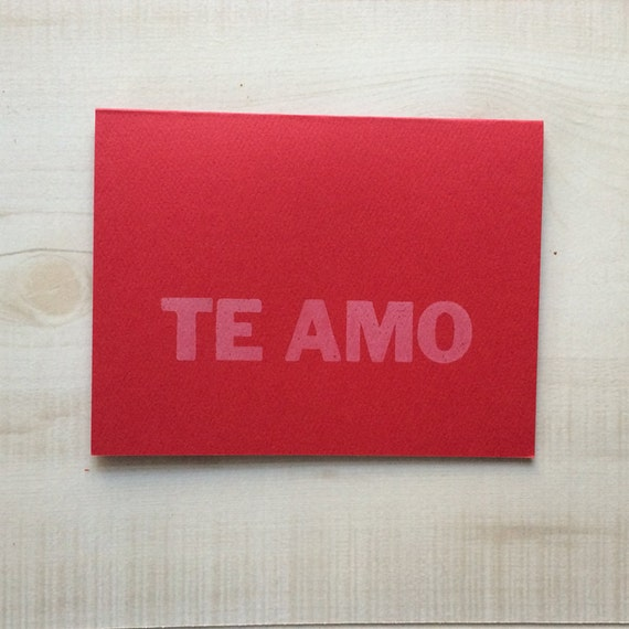 I love you te amo greeting card spanish card blank note etsy image 0 m4hsunfo