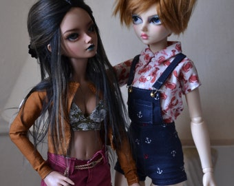Anchor overalls for minifee bjd clothes (PREORDER)