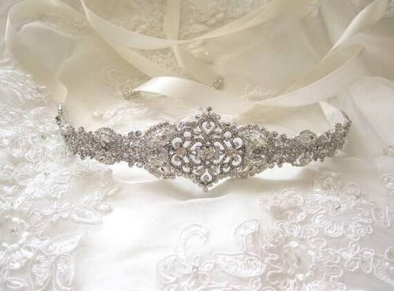 Unique Wedding Dress Sashes Belts: Tanya Wedding Sashbridal Beltrhinestone Sashbridal Ribbon