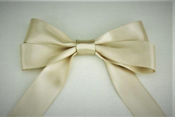 "Cream 2/"" 50mm Wide Silky Satin Ribbon Wedding Gown Sash"