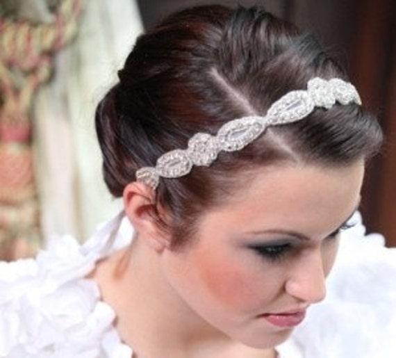Braut Haarstirnband Perlen Band Tiara Haarband Halo Etsy
