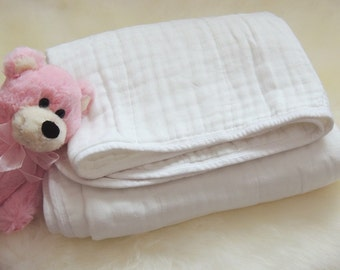 Quilt Throw Cotton Muslin Organic Cotton Bamboo pre-washed Dream Blanket 4 layers 2 ply Swaddle Toddler Large Size Kids