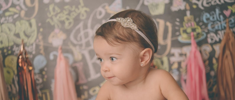 Rhinestone Baby Headbands Couture Baby Headband Infant  798ec28f387