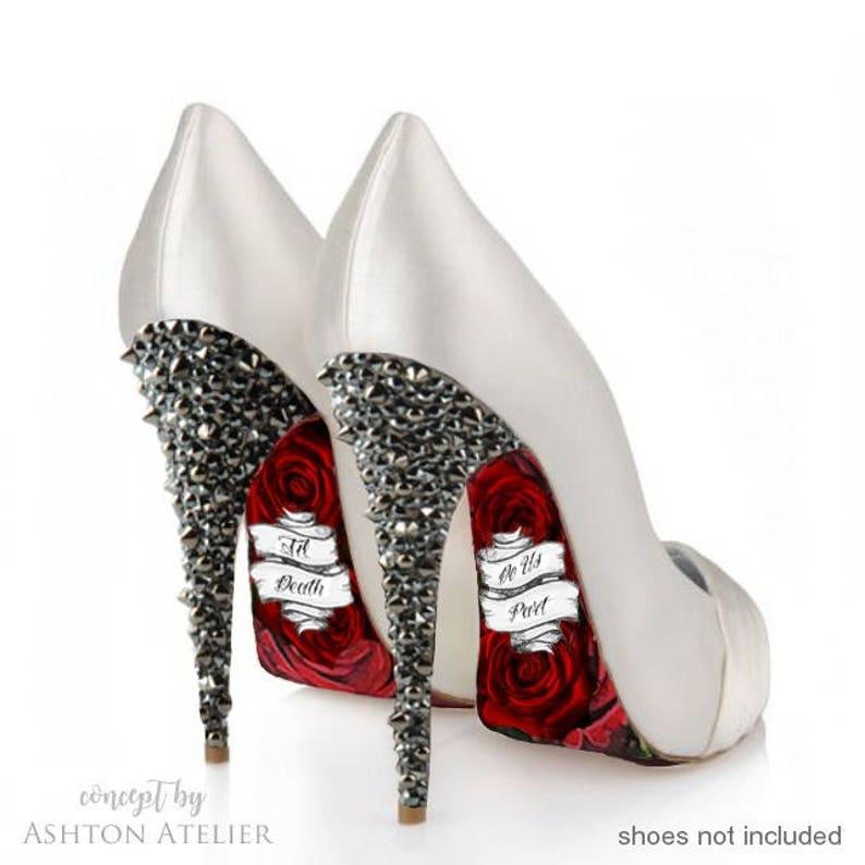 Custom hand painted Until Death Do Us Part heels