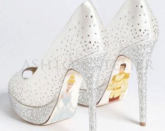 Custom hand painted Cinderella heels