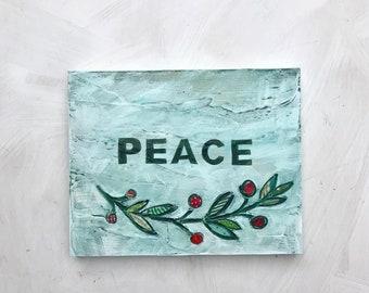 Botanical media original painting Peace