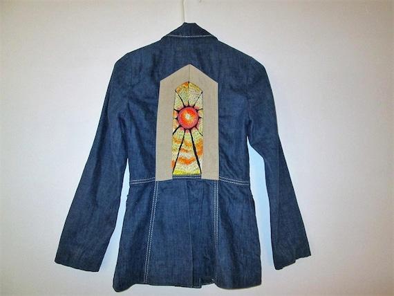 Mushroom Embroidered Full zip Corduroy Shirt