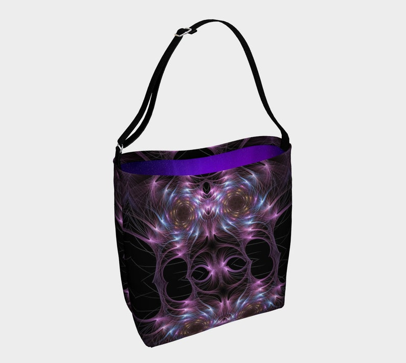 Violet Wire Art Daily Tote Bag