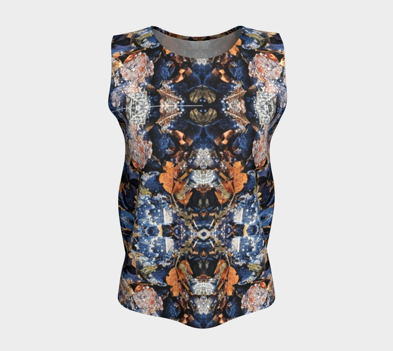 Frosted Leaves Loose Tank Top