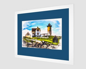 Nubble Light Lighthouse Fine Art Print