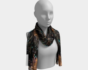 Fireworks Brilliant Burst Long Scarf