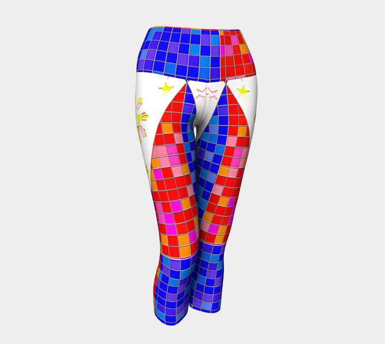 Philippines Stained Glass Yoga Capris