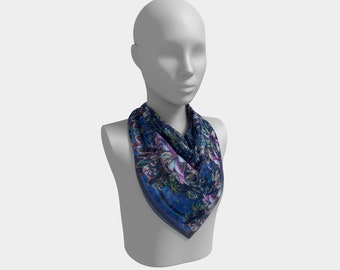 Tiger Lilies at Night Square Scarf