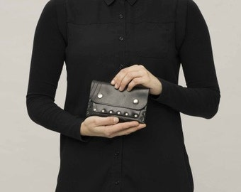 Upcycled innertube handmade coin purse - Waterproof Eco Fashion.