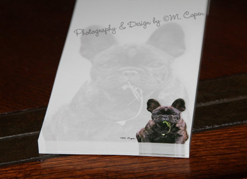 French Bulldog Pad of paper Fifty Pages in Each Pad with Cover