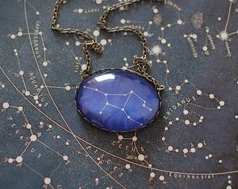 Virgo Constellation Necklace, Virgo Zodiac Necklace, Virgo Necklace, Virgo Jewellery. Virgo Star Sign. September Birthday Gift, UK.