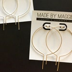 Modern Minimalist Open hoop earrings  - Thin, lightweight silver or gold hoop earrings, Small hoops, Large hoop earrings