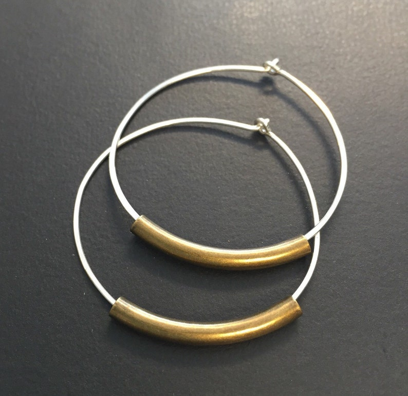 Simple Dainty Hoops  Silver Hoop Earrings  Available in all image 0