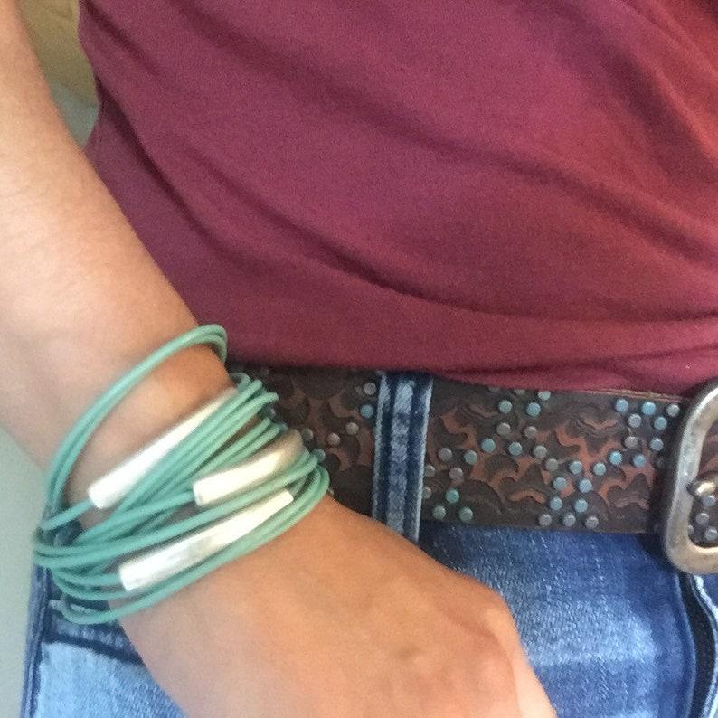 Leather Bracelet  Leather Wrap Bracelet  Joanna Gaines image 0