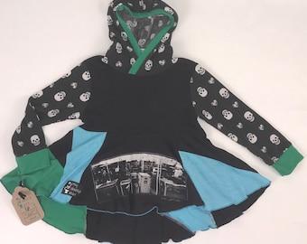 Size 6x - Upcycled Hi-Lo Tunic Hoodie