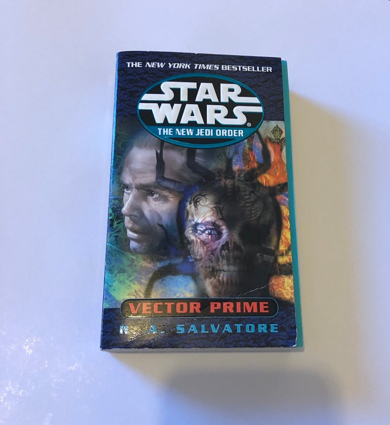 Star Wars, Vector Prime Book by R  A  Salvatore, Vintage Star Wars  Collectible Paperback Book