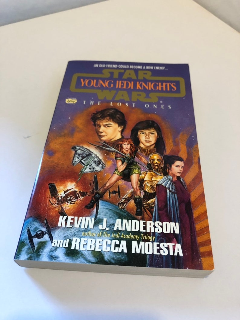 Star Wars Book, Young Jedi Knights, The Lost Ones by Kevin J Anderson,  Vintage Star Wars Collectible Paperback Book