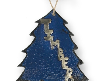metal timber tree christmas ornament - Etsy Christmas Decorations