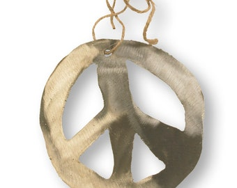 Peace Sign Holiday Tree Ornament