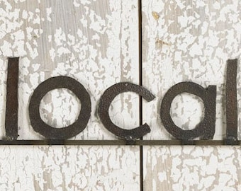 Decorative Wall Sign Farm Metal LOCAL Sign