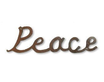 Peace Sign Metal Wall Sign