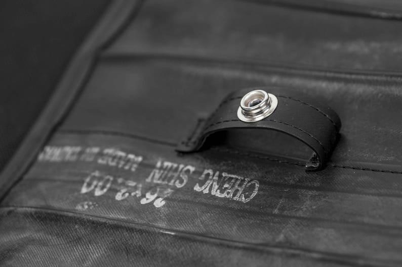 Bike inner tube shoulder bag  Fits up to 15 laptop  Work bag for men  Men/'s vegan bag