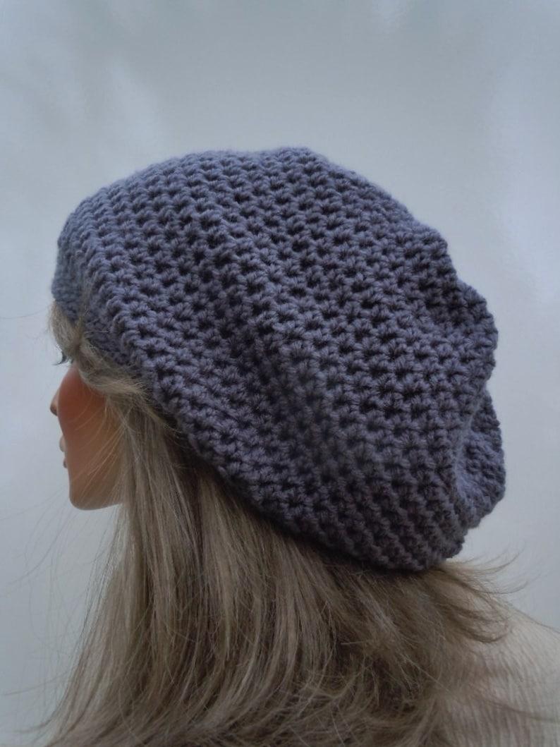 Rasta Tam Crown Grey Tam Rasta Hat Oversize Slouchy Hippie Hat Bag Hat Dreadlock Tam Slate Grey Rasta Rasta Charcoal Gray Tam