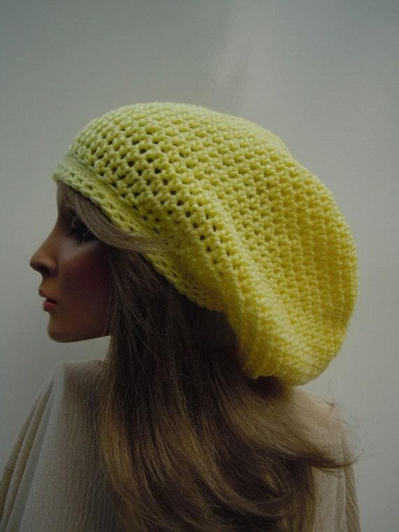 Coral Pink Yellow tam Bag Hat Rasta Hat Yellow and Coral hat Rasta Tam Cap Dreadlock Tam Soft Colors Cap Hippie Hat