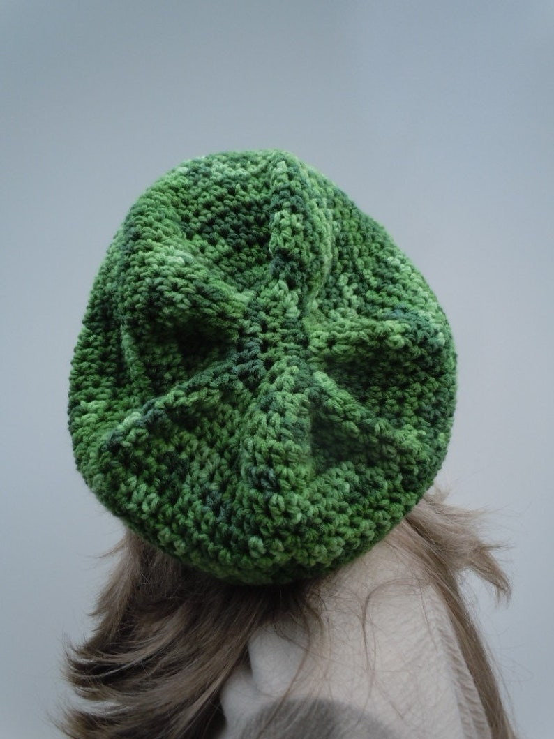 Rasta Hat Variegated Greens Jamaica Hippie Hat Dreadlock Tam Green Slouchy Bright Green Tam Rasta Tam Cap Bag Hat