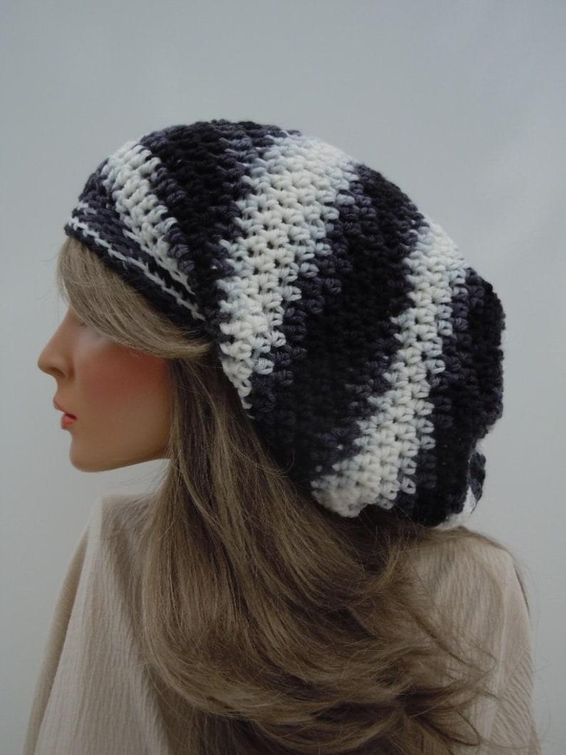 65f85dde9c5 Dreadlock Tam Rasta Tam Cap Hippie Hat Bag Hat Black White