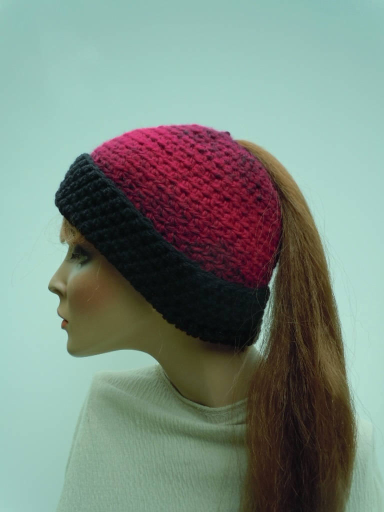 Ponytail Hat Messy Bun Hat Red Pony Tail Hat Hat For Long