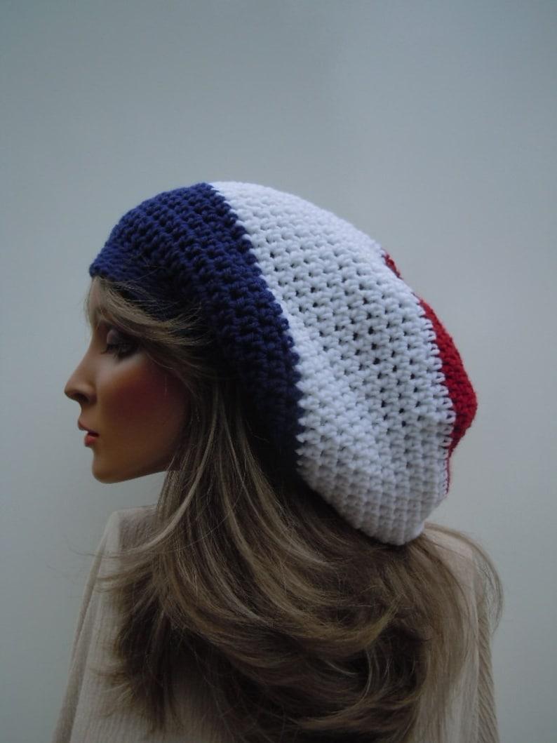 a75f59b6e12 Patriotic Rasta Hat Red White Blue Rasta French Colors Tam