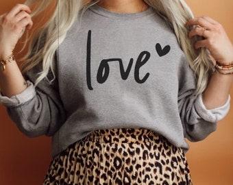 Valentine's Shirt, Valentine's Day, Love Sweatshirt, heart, Comfy Sweatshirt, alphabet, Made to Order, Custom, Valentine Design, Love, Warm