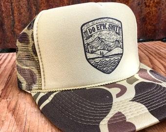 bdf8f71cfe074 Camo Do Epic Shit Trucker Hat