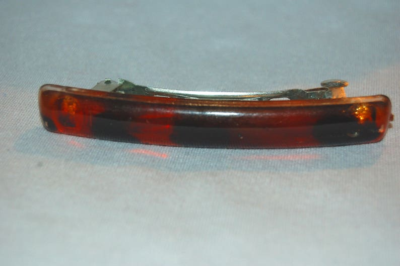 Vintage old jewelry Faux Tortoise Shell Barrette Hair Clip