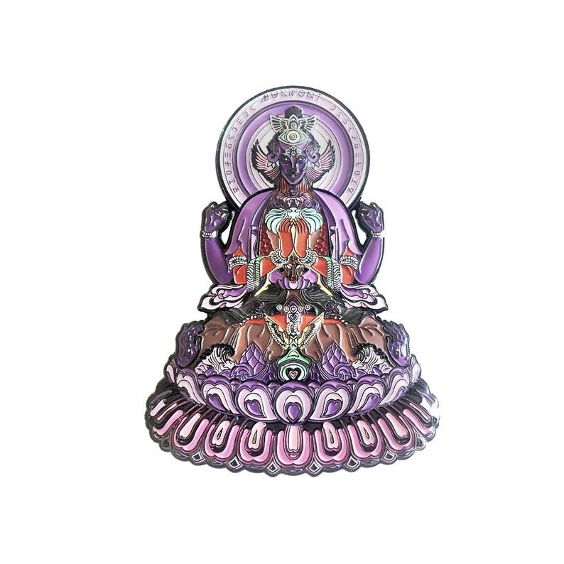 Limited Edition Enamel Pin Colourful Sky Diamonds Psychedelic Visionary Art  by Mugwort | Spirituality Meditation Festival Yoga Geometry