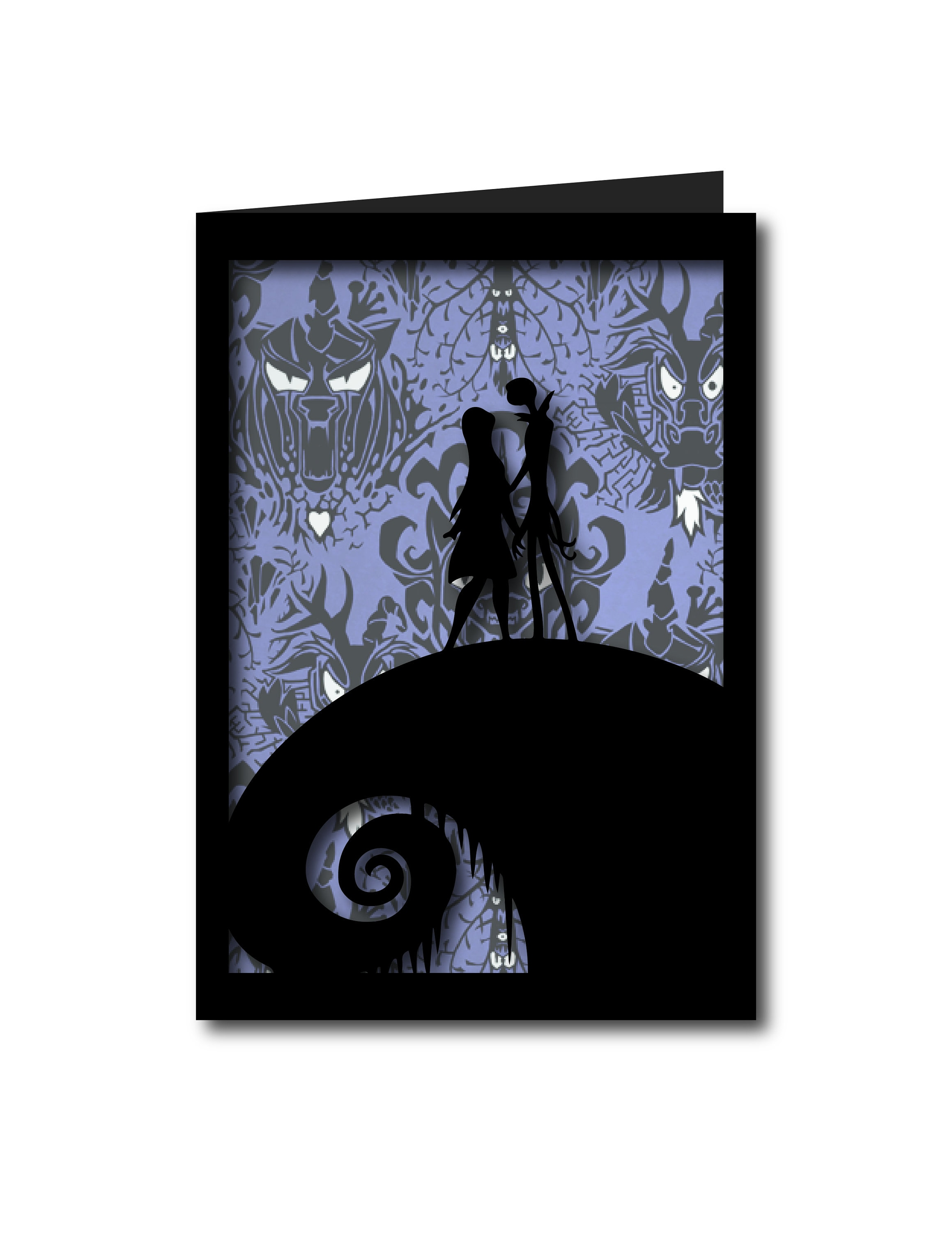 Jack and Sally Nightmare before Christmas Inspired Card Paper   Etsy