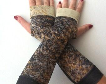 SALE GLOVES Melange fingerless   gloves