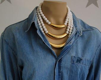 ALEXIS KIRK vintage necklace, 80s necklace