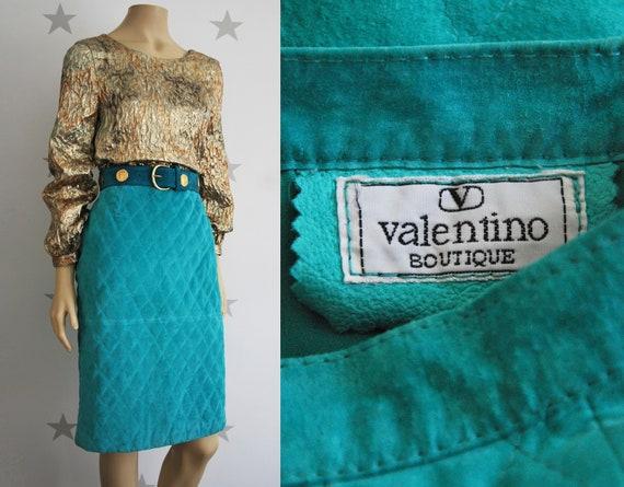 Vintage VALENTINO suede skirt, vintage skirt, vint
